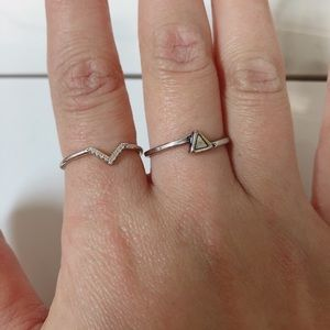 2 Triangle rings- Size 6